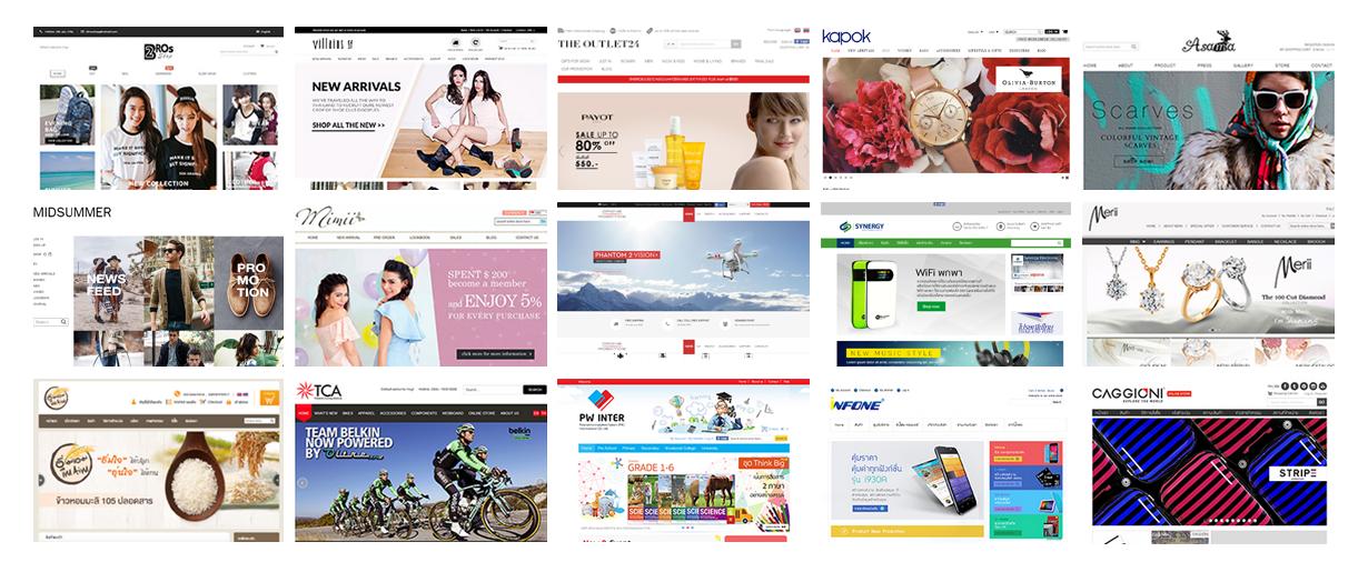 ผลงานการสร้างร้านค้าออนไลน์ด้วย Magento , สร้างเว็บไซต์ eCommerce, รับทำเว็บขายของออนไลน์