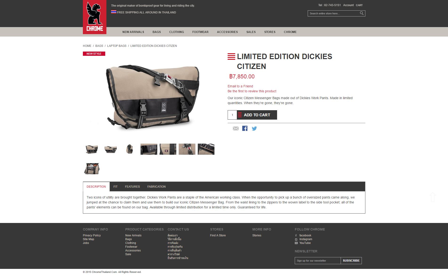 Chrome กระเป๋าเมสเซ็นเจอร์ รุ่น Citizen Dickies